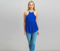 Free People Blue Road Trip Crochet Tank, Seaport