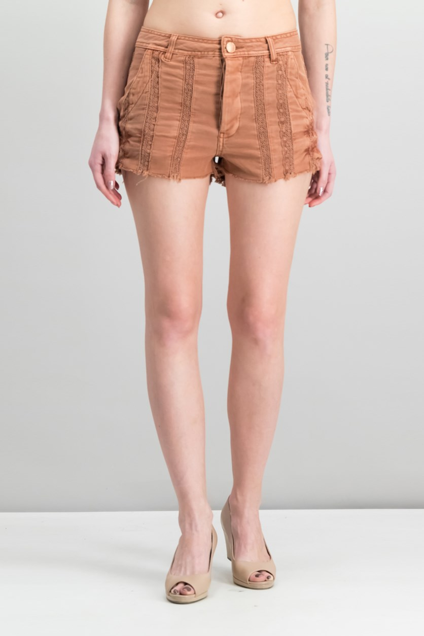 Great Expectations Lacey Cotton Short, Peach