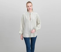 Free People Rhythm Of The Night Striped Top, Ivory