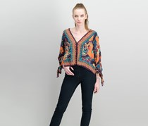 Free People Catch Me If You Can Blouse, Purple Combo