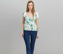 Free People Women's Close To You Floral Blouse, Ivory