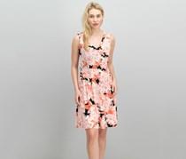 Tommy Hilfiger Women's Printed Dress, Red/Pink Combo