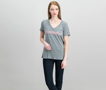 Carbon Copy Heathered Graphic T-Shirt, Heather Grey