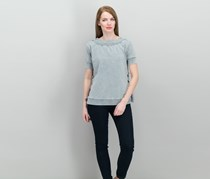 William Rast Everett Off-The-Shoulder Sweater Tops, Grey
