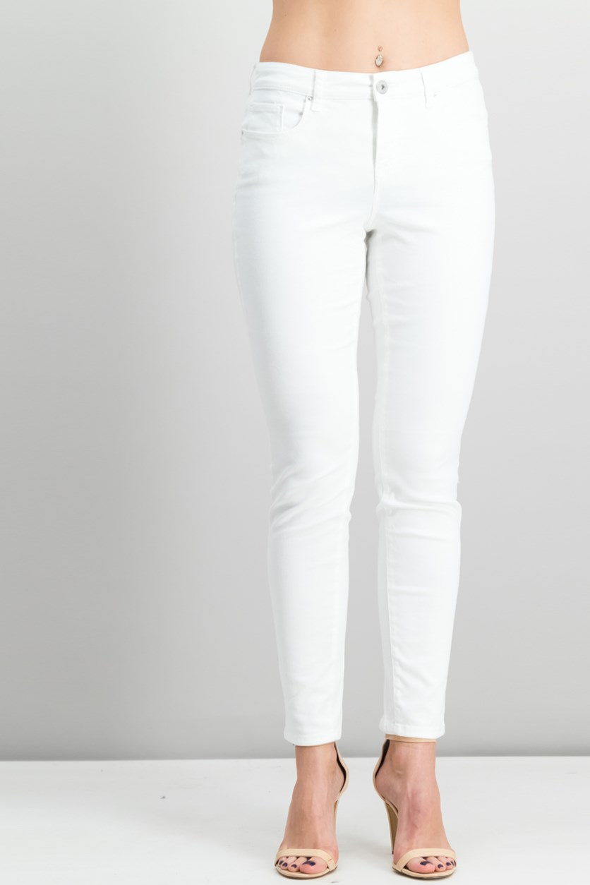Women's Curvy-Fit Skinny Jeans, Bright White