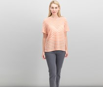 Alfred Dunner Los Cabos Spliced Scalloped-Trim Top, Peach