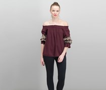 Inc International Concepts Bell-Sleeve Off-The-Shoulder Tops, Port
