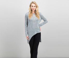 Bar III Women's High-Low Tunic, Silver