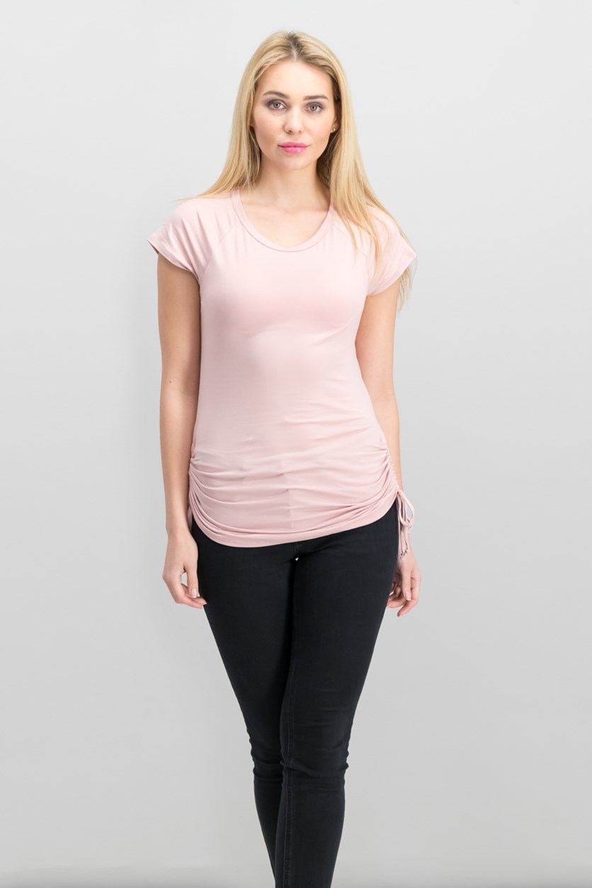 Ruched Top, Pink