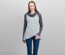 Moa Moa Women's Cowl Sweatshirt, Grey