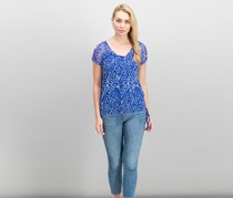 Inc International Concepts Tie-Hem Top, Blue