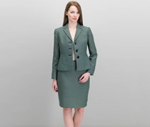 Women 2 Pcs Suit and Blazer, Emerald Combo