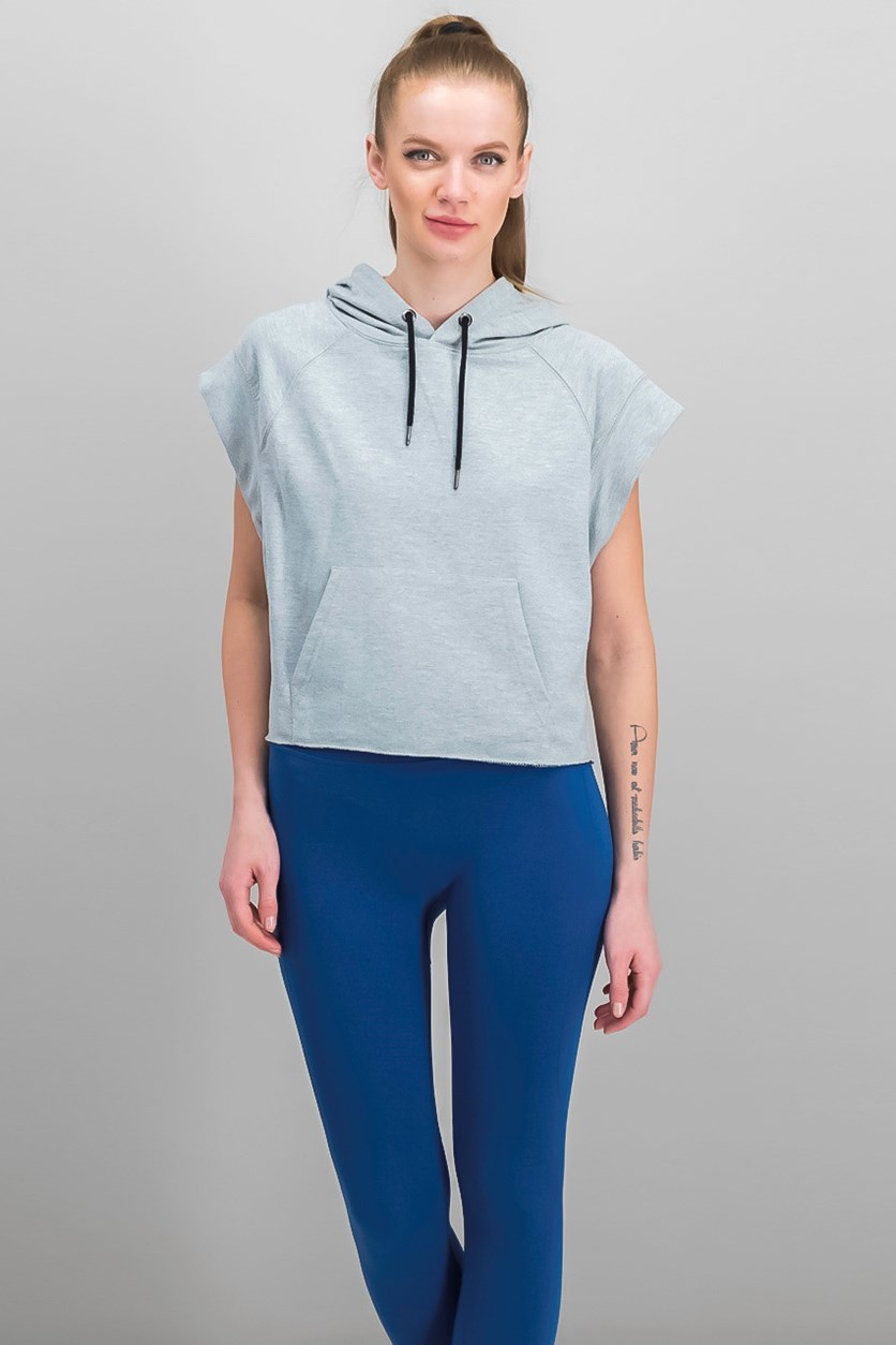 Women's Boxer Hoodie, Heather Grey