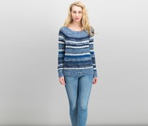 Women Off-The-Shoulder Sweater, Ink Berry