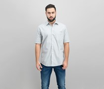 Club Room Men's Printed Shirt, Brushed Alloy