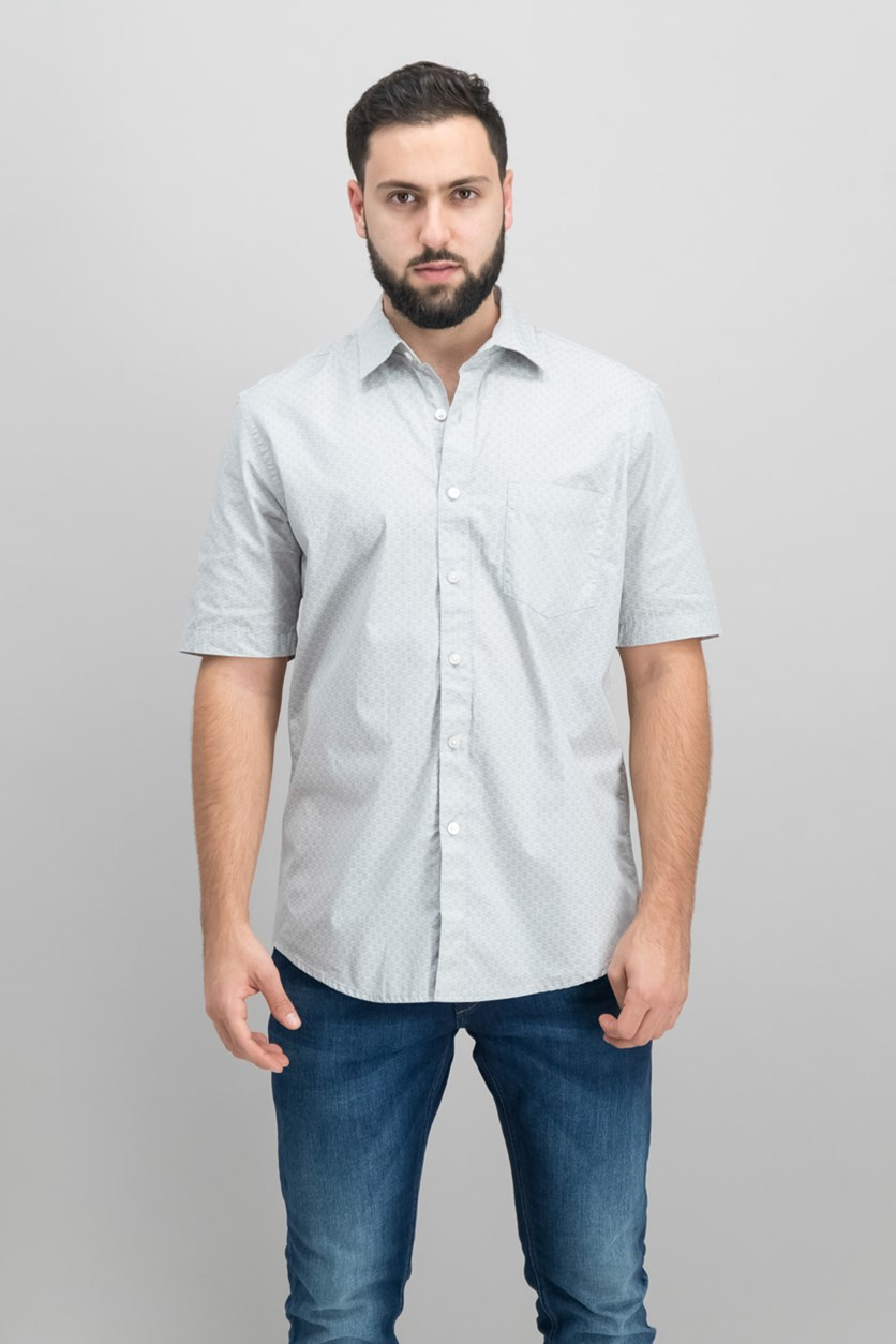 Men's Printed Shirt, Brushed Alloy