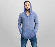 INC International Concepts Men's French Terry Hoodie, Basic Navy