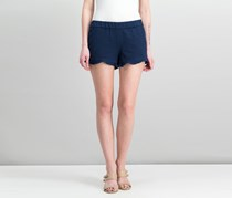 Pull-On Ruffle-Trim Shorts, Blue Notte