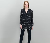 Style & Co Stamped Collection Printed Shirt,  Black Combo