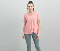 Style & Co Cutout High-Low T-Shirt, Smoked Salmon