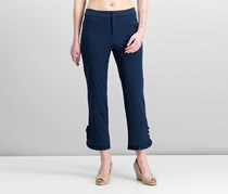 Charter Club Newport Ruffled Cropped Pants, Intrepid Blue
