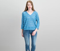 Inc International Concepts Striped Popover Hoodie, Chambray Blue