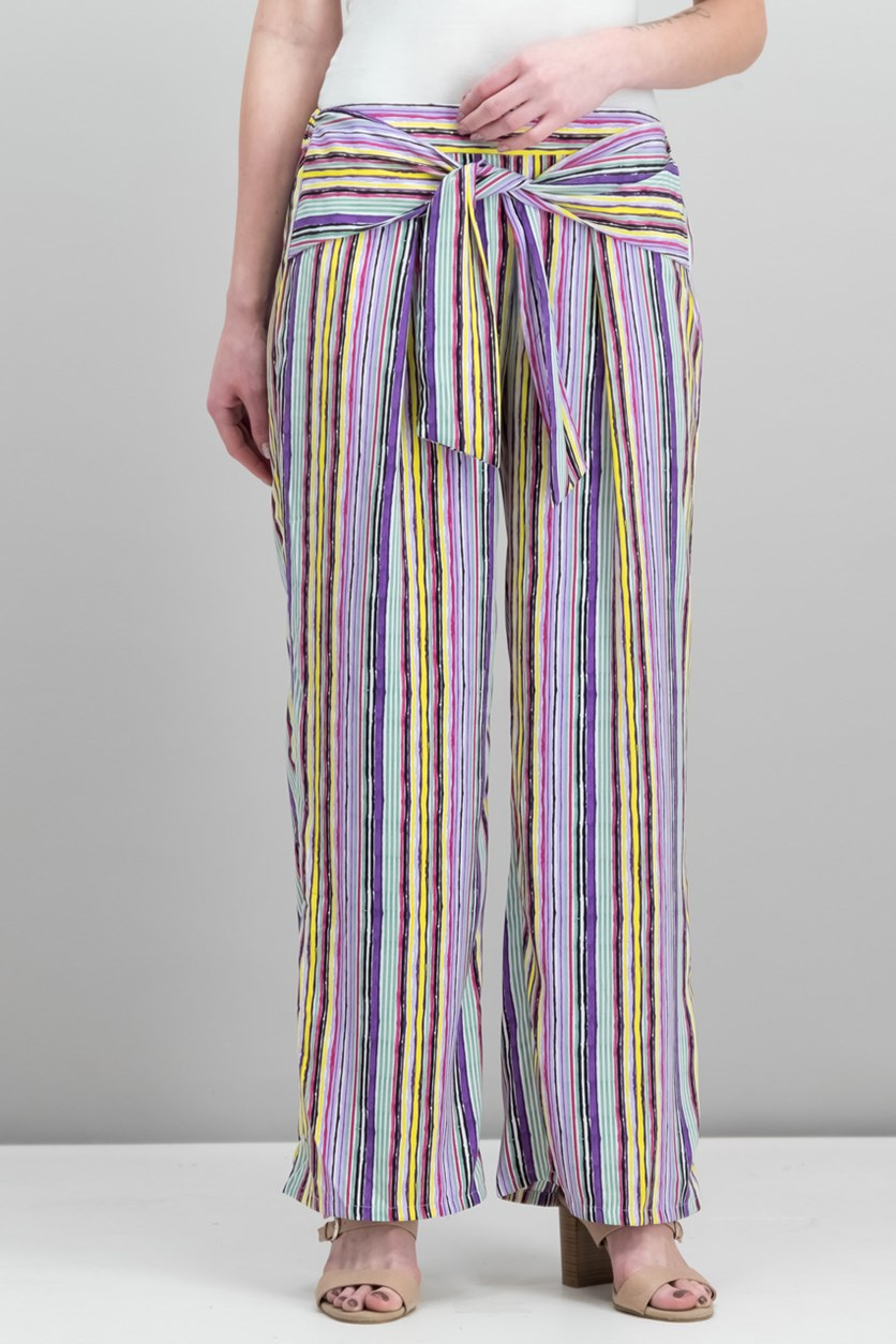 Striped Pull-On Pants, Painter Combo