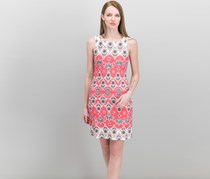 Charter Club Petite Printed Shift Dress, Crushed Coral Combo