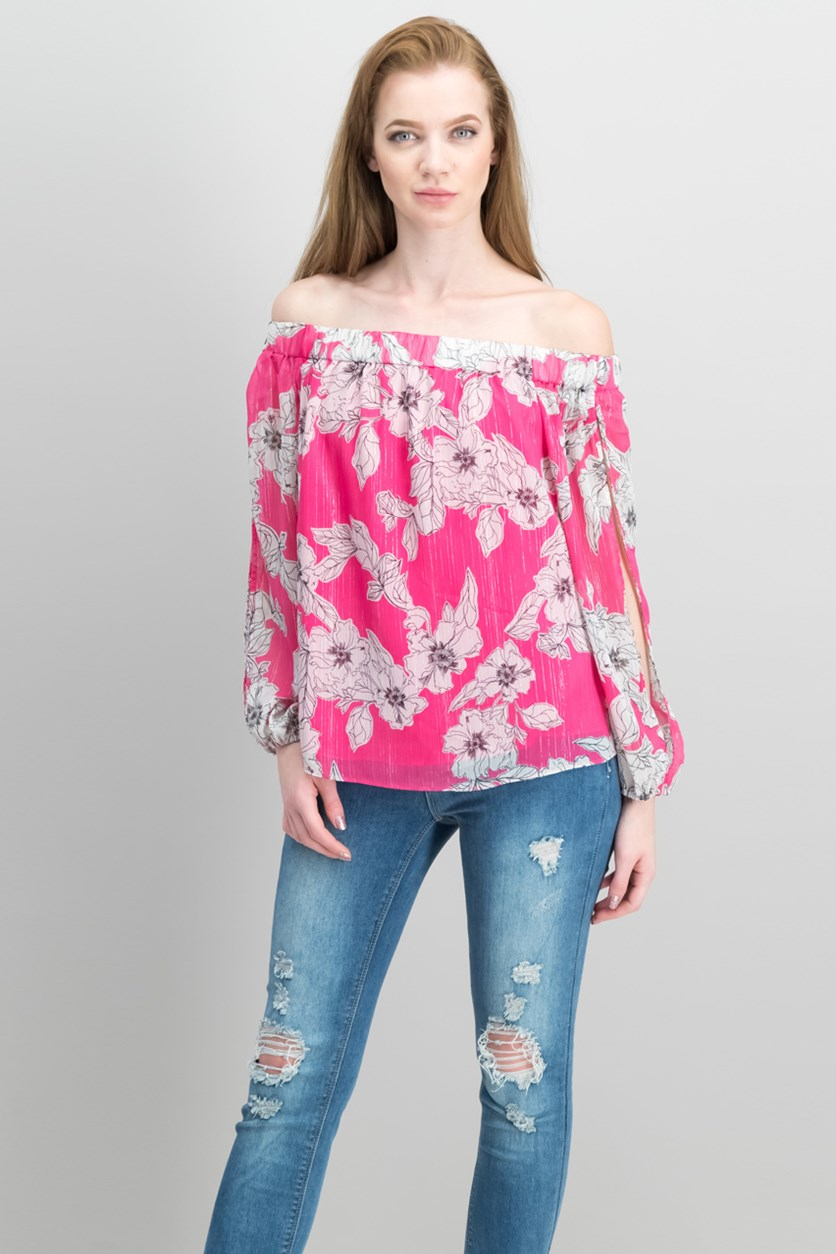 International Concepts Floral-Print Off-The-Shoulder Tops, Floral Sync