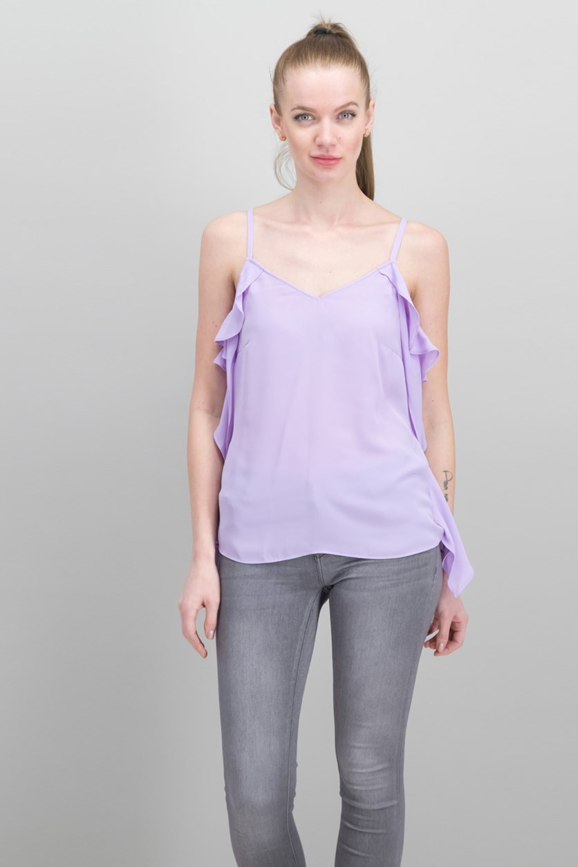 Ruffle-Side Top, Freesia Dusk