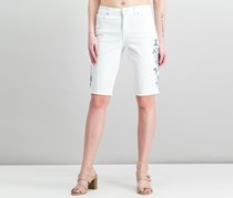 Style & Co Embroidered Bermuda Shorts, Bright White