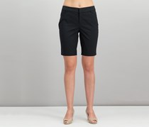 Charter Club Women's Twill Shorts, Deep Black
