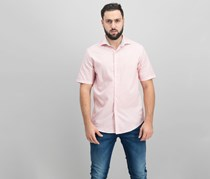 Tasso Elba Men's Short-Sleeve Dobby Shirt, Orange Combo