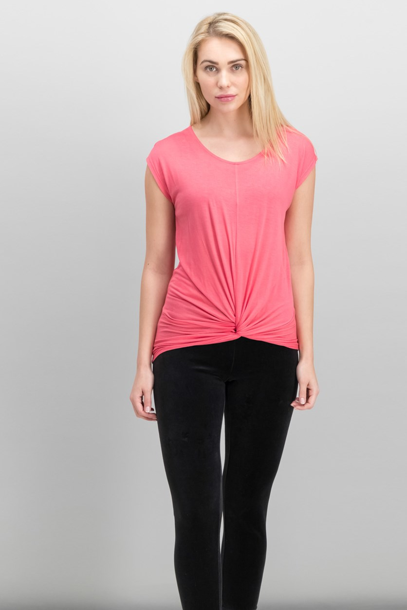 International Concepts Twist-Front Top, Polished Coral