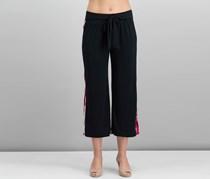 Inc International Concepts Side-Stripe Cropped Wide-Leg Pant, Red Merry Stripe
