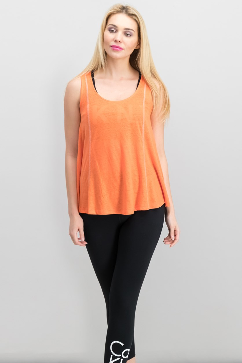 High-Low Tank Top, Desert Coral