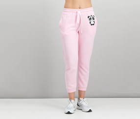Nicopanda Women's Graphic Jogger Pants, Pink