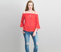 Bcx Juniors' Smocked Off-The-Shoulder Top, Red