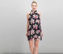 INC International Concepts Petite Printed High-Neck Dress, Floating Floral