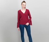 Cooper & Ella Isabel Tie-Sleeve Top, Port