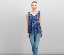 Max Jeans Women's Printed Tops, Blue