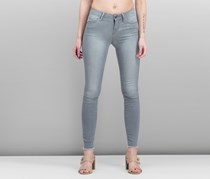 Articles of Society Sarah Frayed Skinny Jeans, Silver