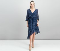 Joie Alithea Printed Silk Dress, Dark Navy