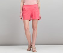 Women Curvy Pull-On Shorts, Polished Coral