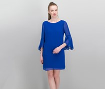 Inc International Concepts Petite Bell-Sleeve Shift Dress, Bright Blue