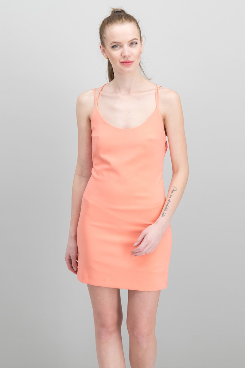 Women's A-Line Slip Dress, Coral