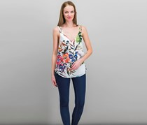Rachel Roy Floral Print Layered Tank Top, White Combo