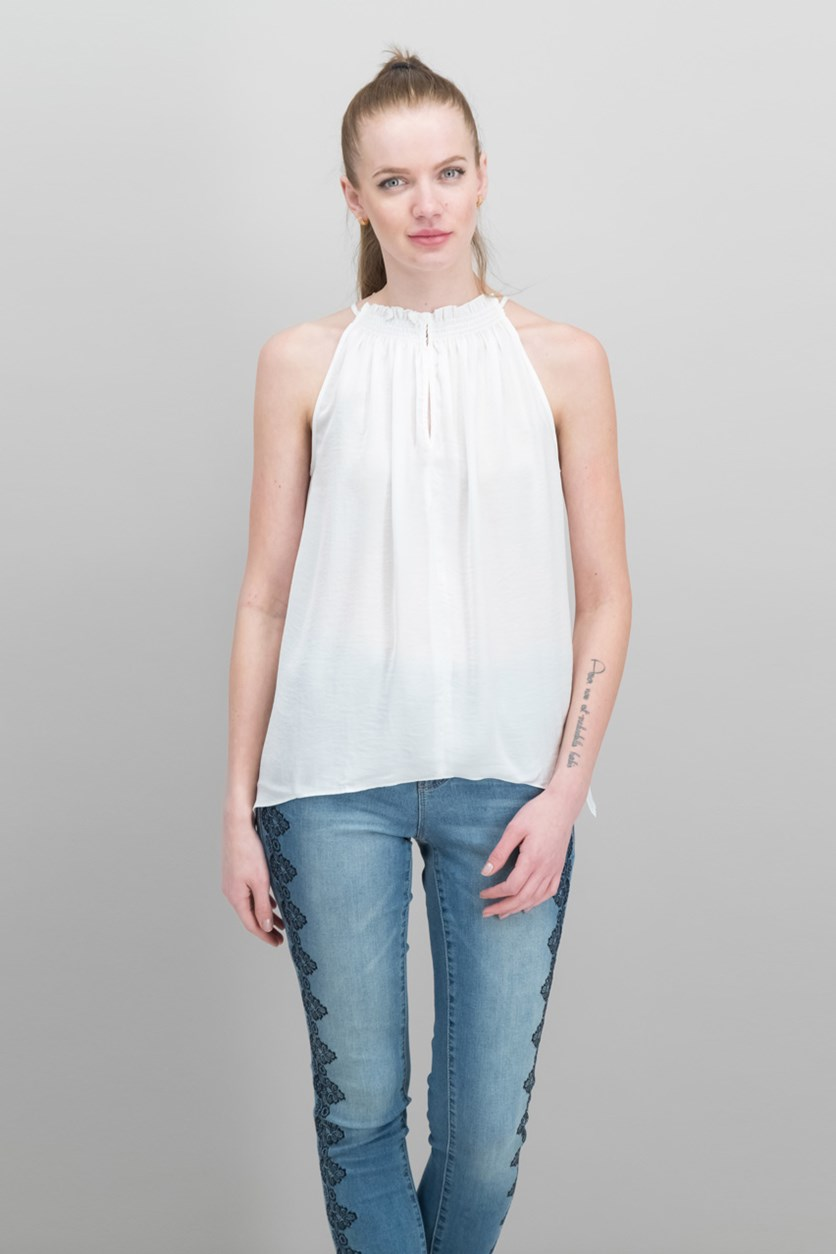 Melinda Asymmetrical Top, White