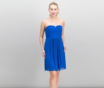Women Strapless Lace Tulle Dress, Royal