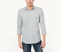 Inc International Concepts Men's Textured Chambray Shirt, Abyss